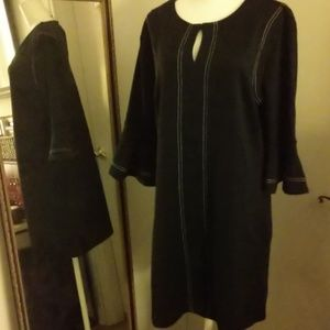 Nwt ny&co black dress with white stitches